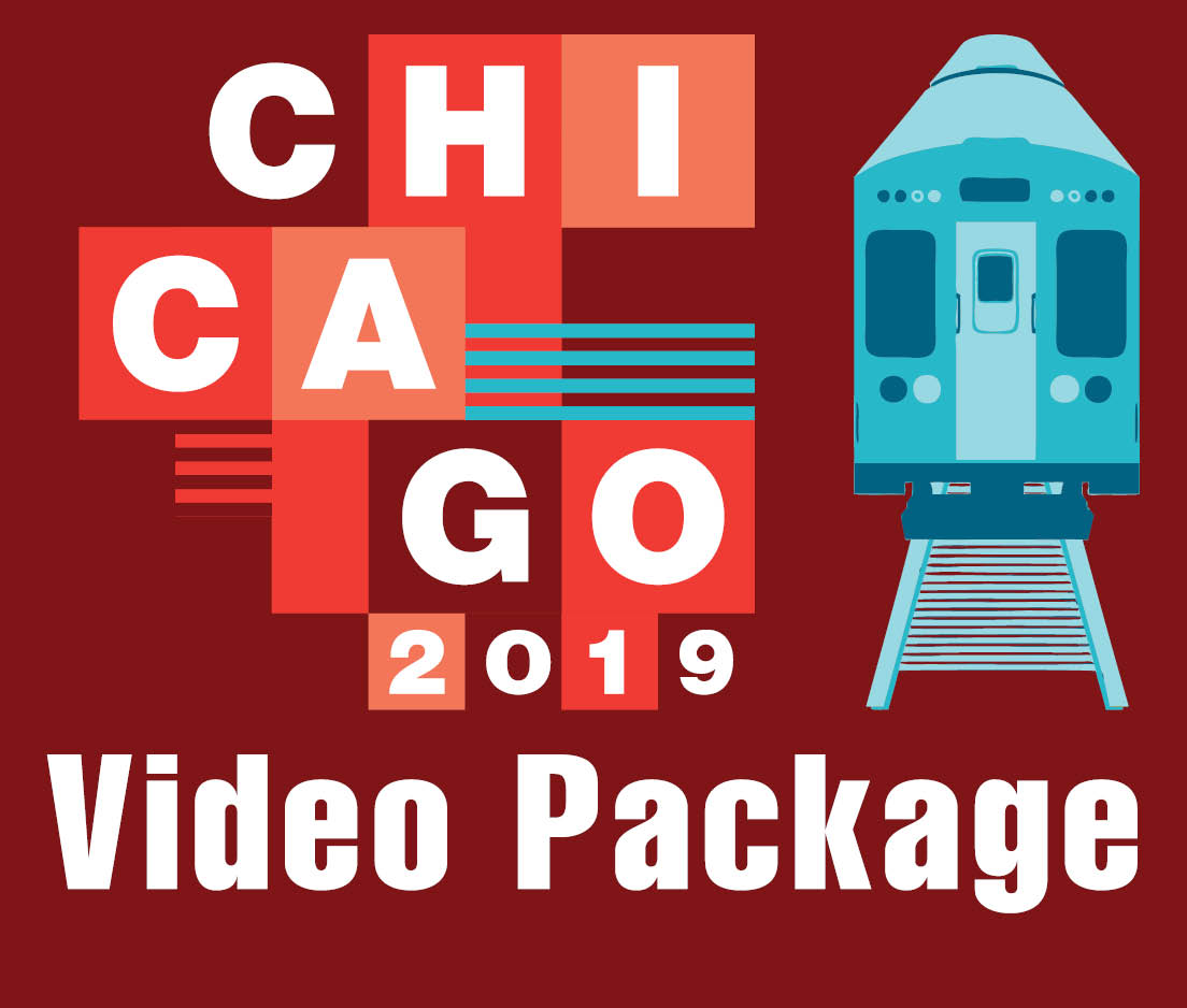 a square graphic representing 2019 Annual Video Package. Presentations plus 23 CEs.