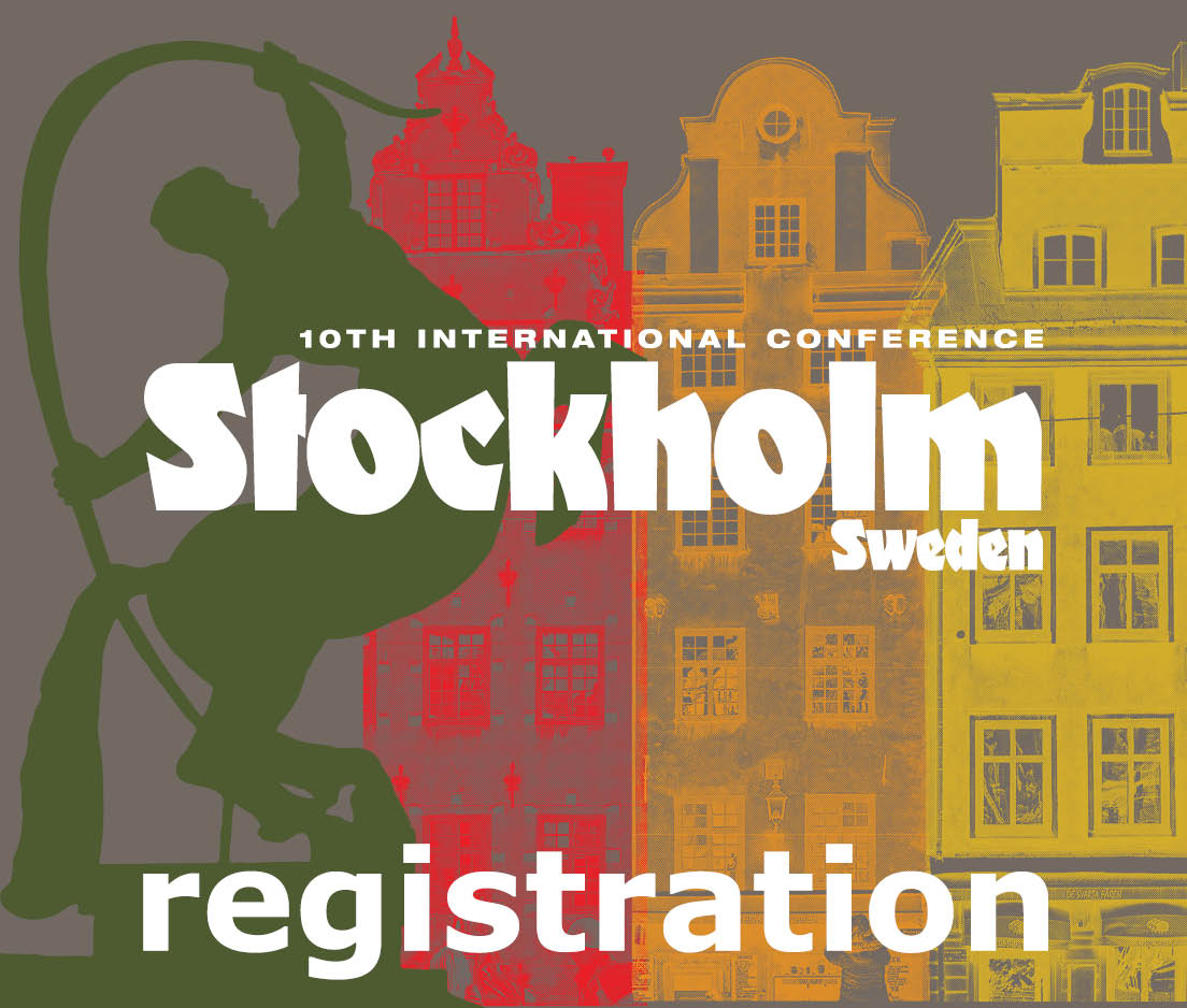 a square graphic representing International Conference 2019 Stockholm, Sweden. FOR ALL REGISTRANTS OUTSIDE OF SWEDEN