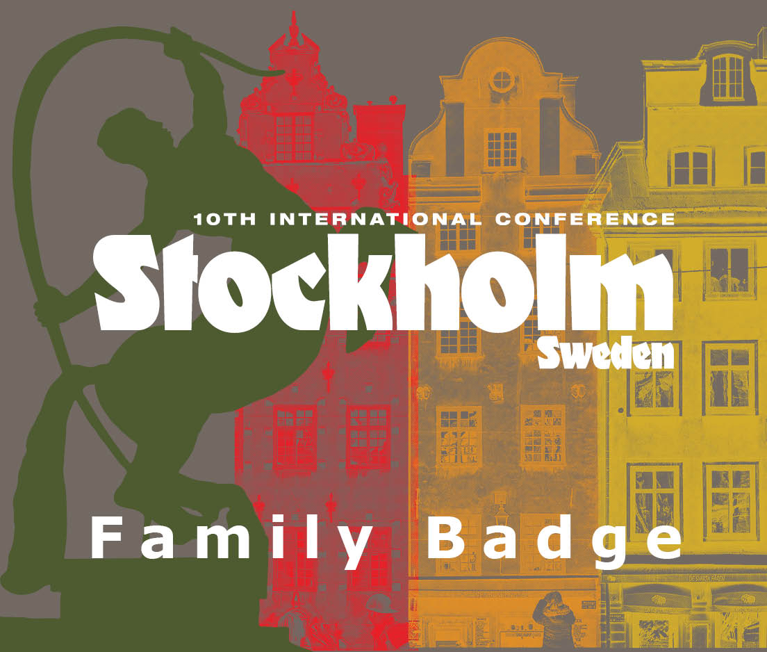 a square graphic representing International Conference 2019 Stockholm, Sweden Guest Pass (Single Session)