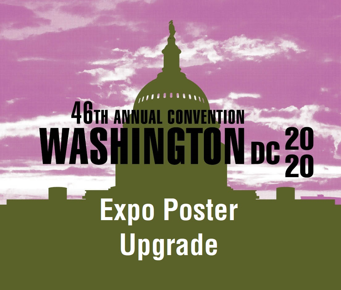 a square graphic representing Expo Poster at the 2020 Annual Convention (Double Poster Upgrade)