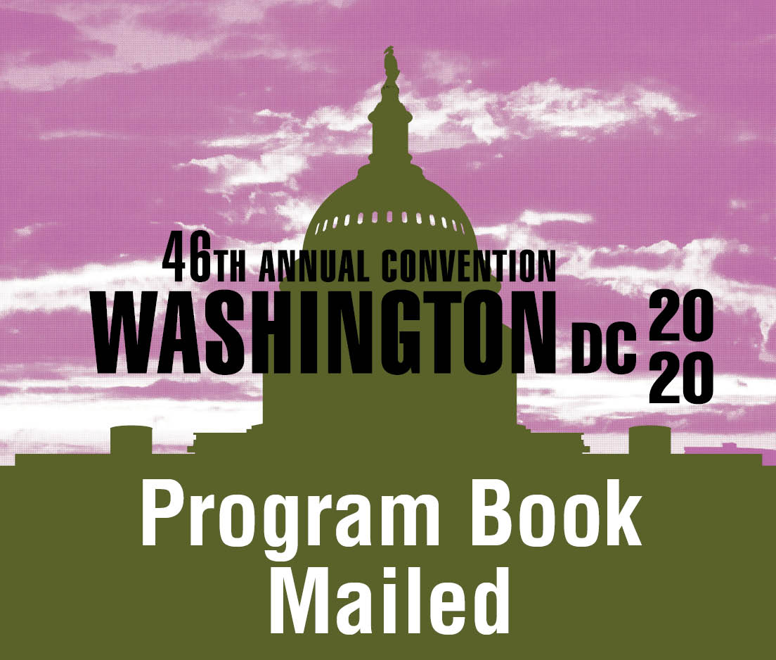 a square graphic representing 2020 Annual Convention Program Book Mailed