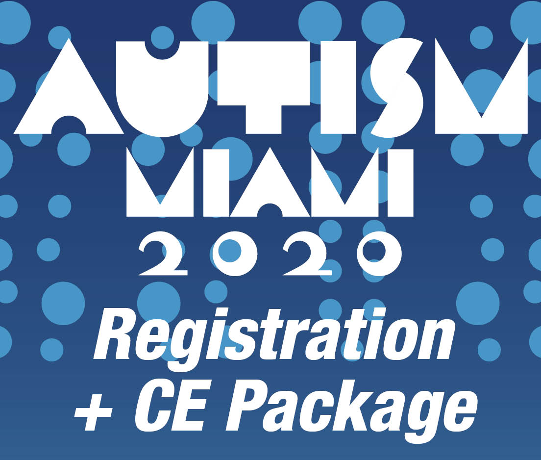 a square graphic representing Autism Conference 2020 Registration including CE Package for Qualifying Events - Miami, FL.