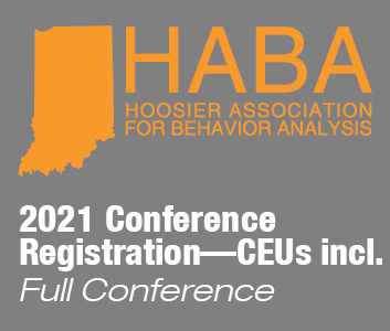 a square graphic representing HABA Annual Conference 2021 (in-person or virtual) Full conference with CEUs