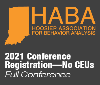 a square graphic representing HABA Annual Conference 2021 (in-person or virual) Full Conference, no CEUs