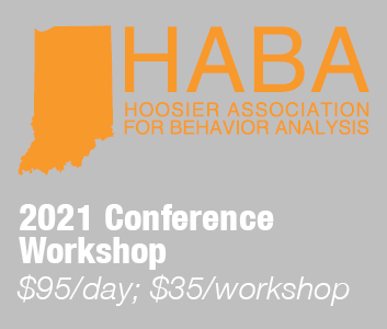 a square graphic representing HABA Annual Conference 2021 Workshop ($95 per day, 35 per workshop)
