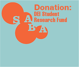 a square graphic representing Donation to the Diversity, Equity, and Inclusion (DEI) Student Research Fund