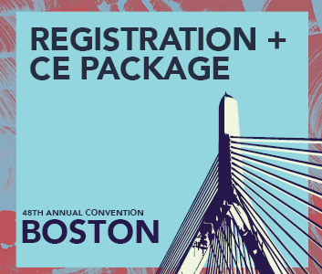 a square graphic representing Annual Convention 2022 Registration. FULL May 26-30, 2022. Includes CE Package for Qualifying Events