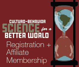 a square graphic representing Culturo Conference 2020 Registration (Oct. 7-9, 2020) with ABAI Affiliate Membership for 2021 Included.