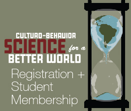a square graphic representing Culturo Conference 2020 Registration (Oct. 7-9, 2020) with ABAI Student Membership for 2021 Included.