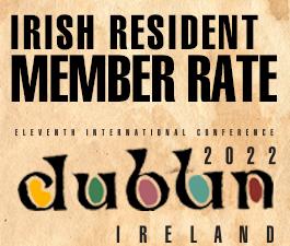 a square graphic representing International Conference 2021 Dublin, Ireland. IRISH RESIDENT ABAI MEMBER RATE. (NON STUDENT)