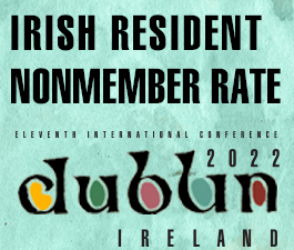 a square graphic representing International Conference 2021 Dublin, Ireland. IRISH RESIDENT NONMEMBER RATE.