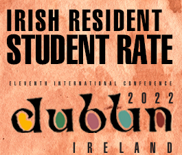 a square graphic representing International Conference 2021 Dublin, Ireland. IRISH RESIDENT RATE FOR STUDENTS