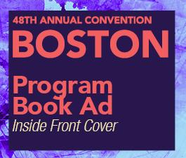 a square graphic representing Program Book Ad: Inside front cover, Annual 2022