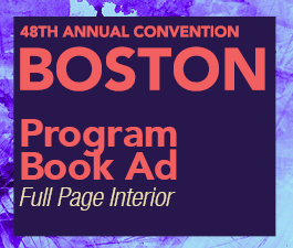 a square graphic representing Program Book Ad: Full page black and white, Annual 2022