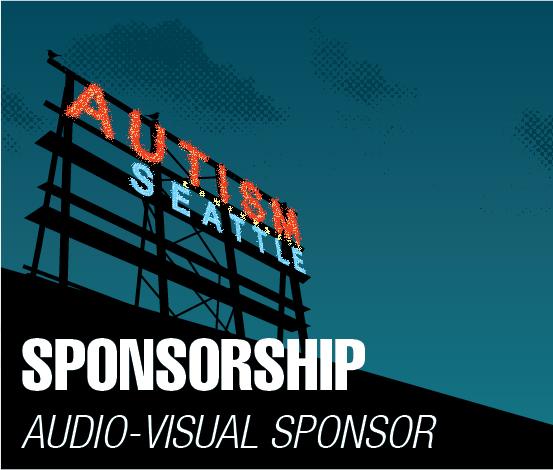 a square graphic representing Audio Visual Sponsor, Autism 2022 Sponsorship