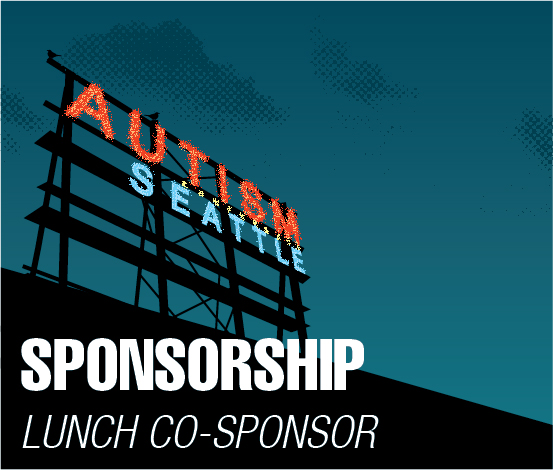 a square graphic representing Lunch Co-Sponsor, Autism 2022 Sponsorship