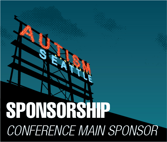a square graphic representing Conference Main Sponsor, Autism 2022 Sponsorship