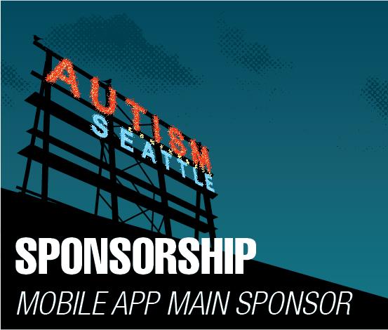 a square graphic representing Mobile Event App Main Sponsor, Autism 2022 Sponsorship