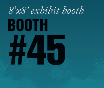 a square graphic representing Standard Exhibit Booth 45, Autism Conference 2022