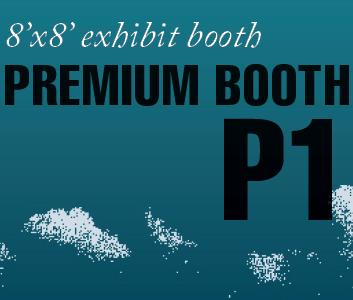 a square graphic representing Premium Exhibit Booth P1, Autism Conference 2022