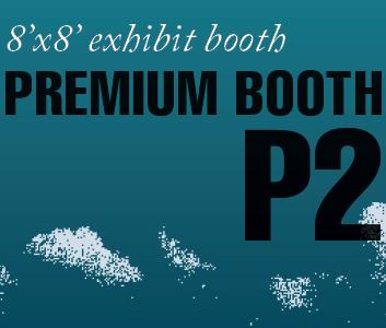 a square graphic representing Premium Exhibit Booth P2, Autism Conference 2022