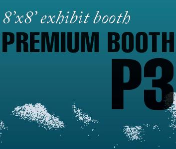 a square graphic representing Premium Exhibit Booth P3, Autism Conference 2022