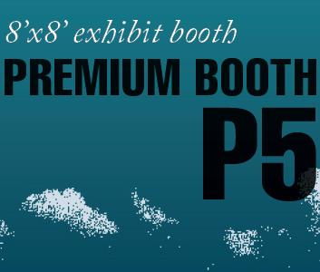 a square graphic representing Premium Exhibit Booth P5, Autism Conference 2022
