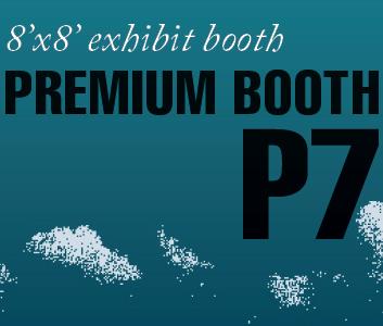 a square graphic representing Premium Exhibit Booth P7, Autism Conference 2022