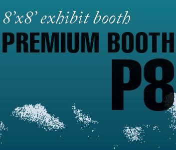 a square graphic representing Premium Exhibit Booth P8, Autism Conference 2022