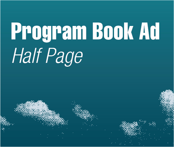 a square graphic representing Program Book Ads - Half Page, Autism Conference 2022