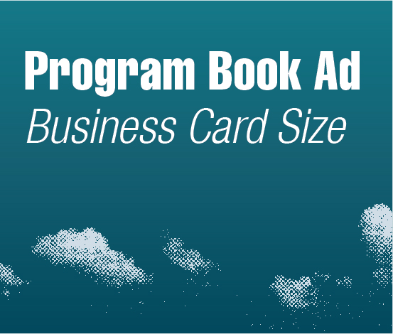 a square graphic representing Program Book Ads - Business Card, Autism Conference 2022
