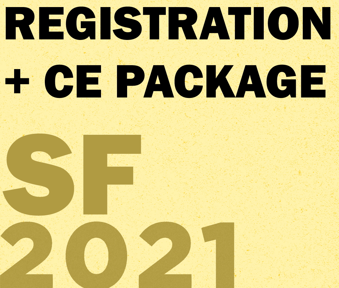 a square graphic representing Annual Convention 2021 Registration. FULL - San Francisco, CA. (May 29th, 30th, and 31st. Also Includes Friday May, 28th Opening Address and ABAI Expo) including CE Package for Qualifying Events