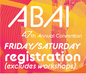 a square graphic representing Annual Convention 2021 Registration. FRIDAY MAY 28 and SATURDAY MAY 29 (Does not include Workshops)