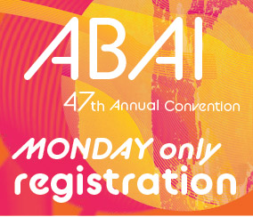 a square graphic representing Annual Convention 2021 Registration. MONDAY MAY 31 ONLY