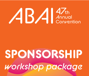 a square graphic representing Annual 2021 Workshop Package Sponsorship