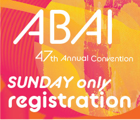 a square graphic representing Annual Convention 2021 Registration. SUNDAY MAY 30 ONLY