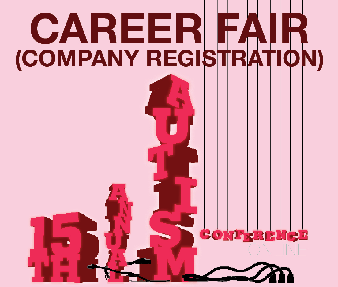 a square graphic representing Career Fair: Autism 2021 Only - Company Registration