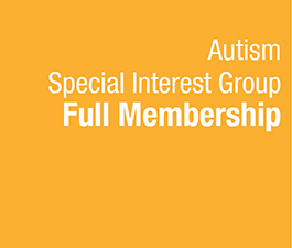 a square graphic representing Autism SIG Full Membership - 2020