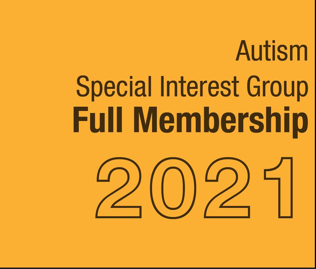 a square graphic representing Autism SIG Full Membership - 2021