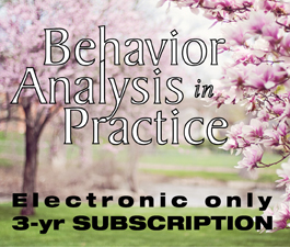 a square graphic representing BAP: Behavior Analysis in Practice - 3 Years (Electronic)