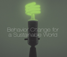 a square graphic representing 2012 Behavior Change for a Sustainable World Conference Video Package. Presentations plust 5 CEs