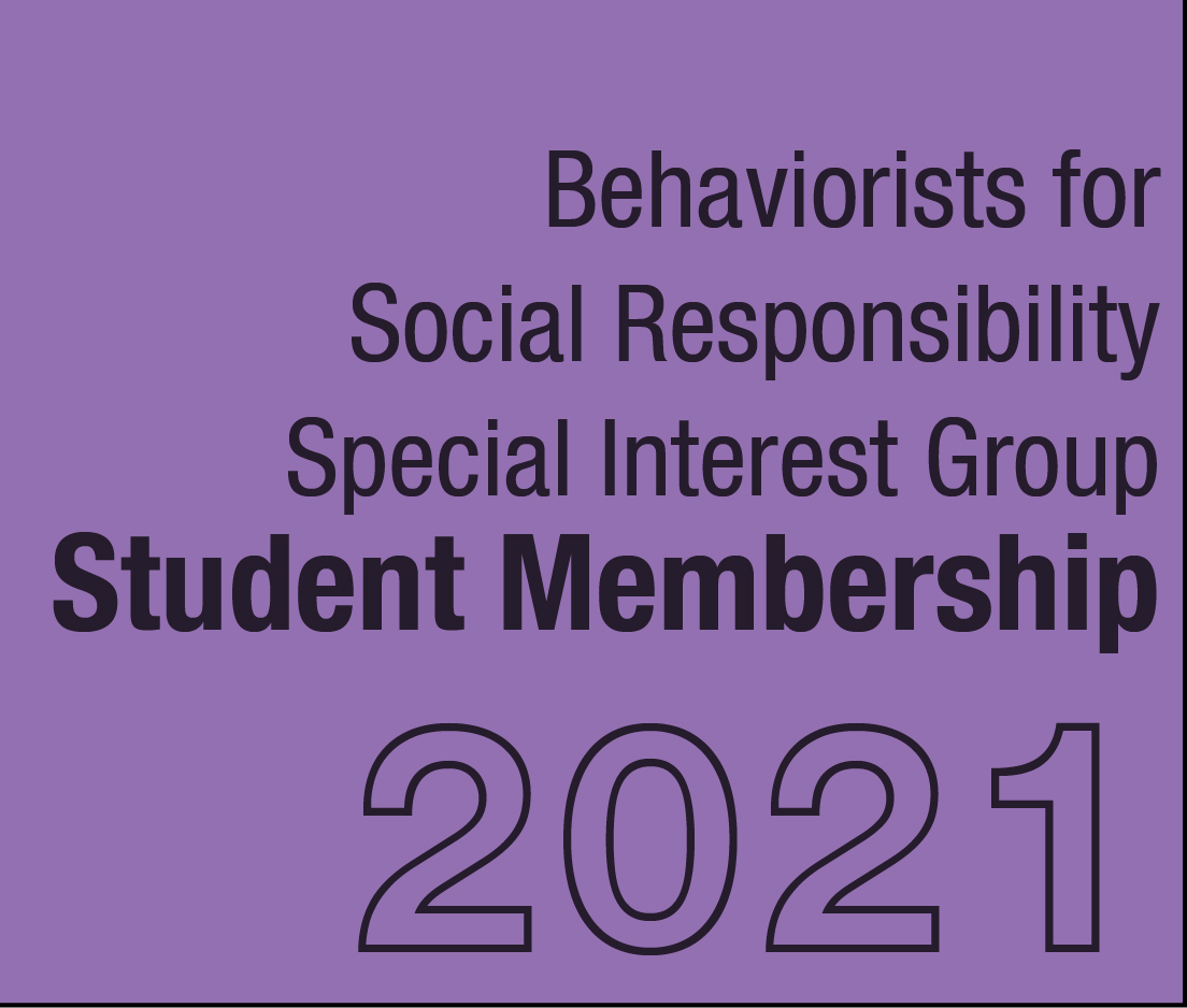 a square graphic representing BFSR SIG Student Membership - 2021