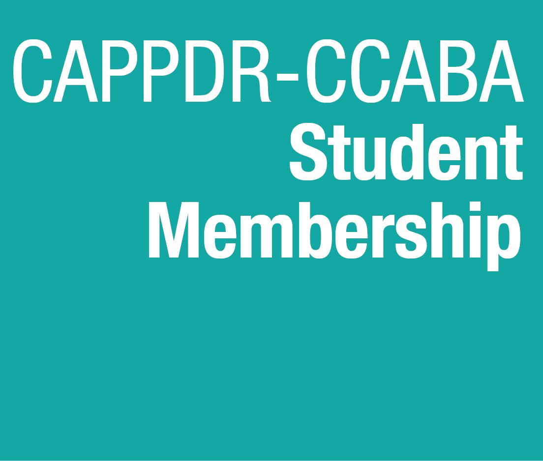 a square graphic representing CCABA 2019 Membership Student 2019