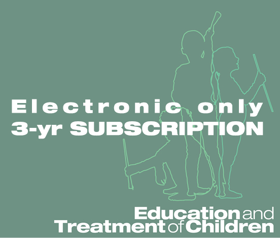 a square graphic representing ETC: Education and Treatment of Children - 3 Years (Electronic)