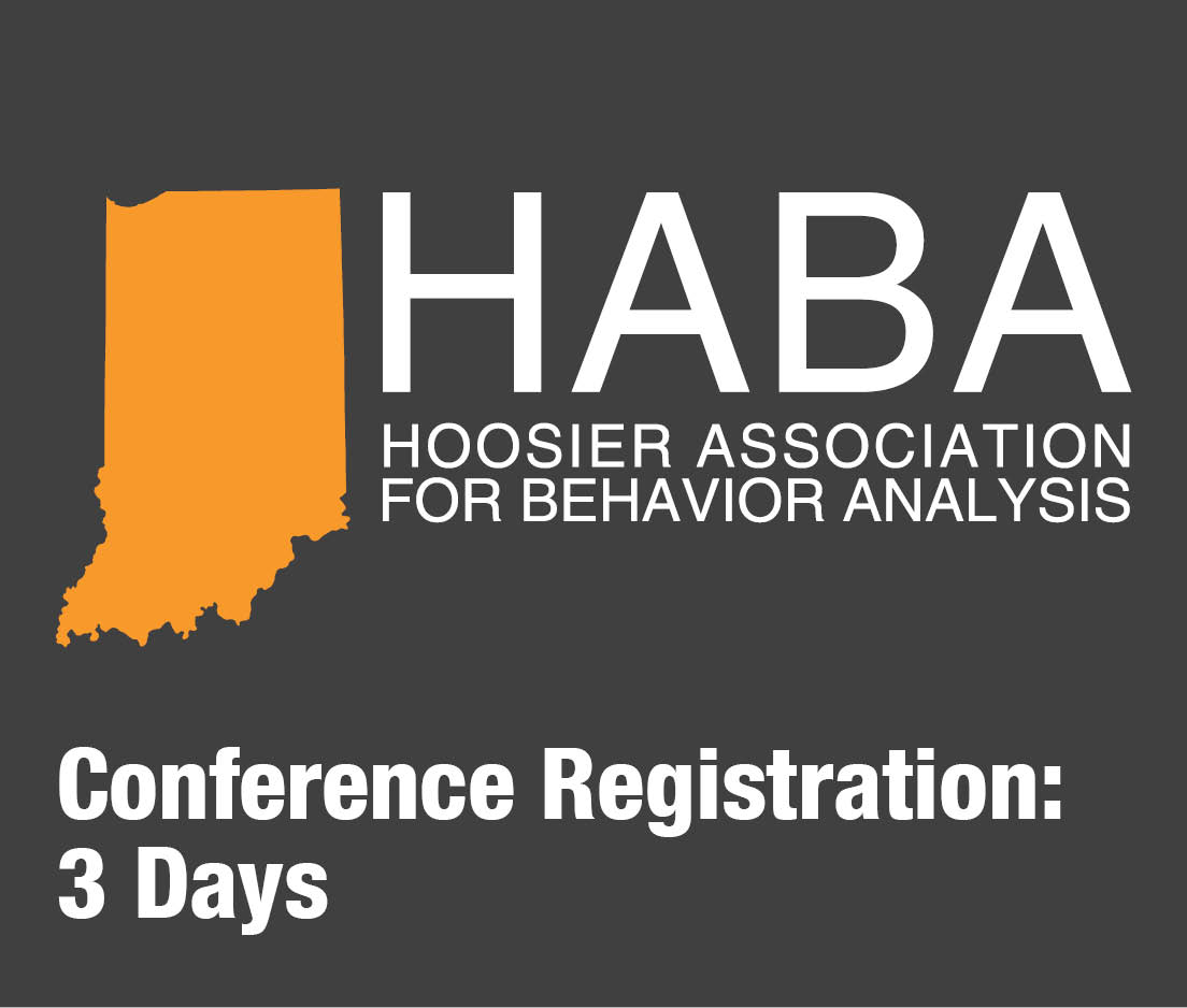 a square graphic representing HABA 2019 conference for 3 days