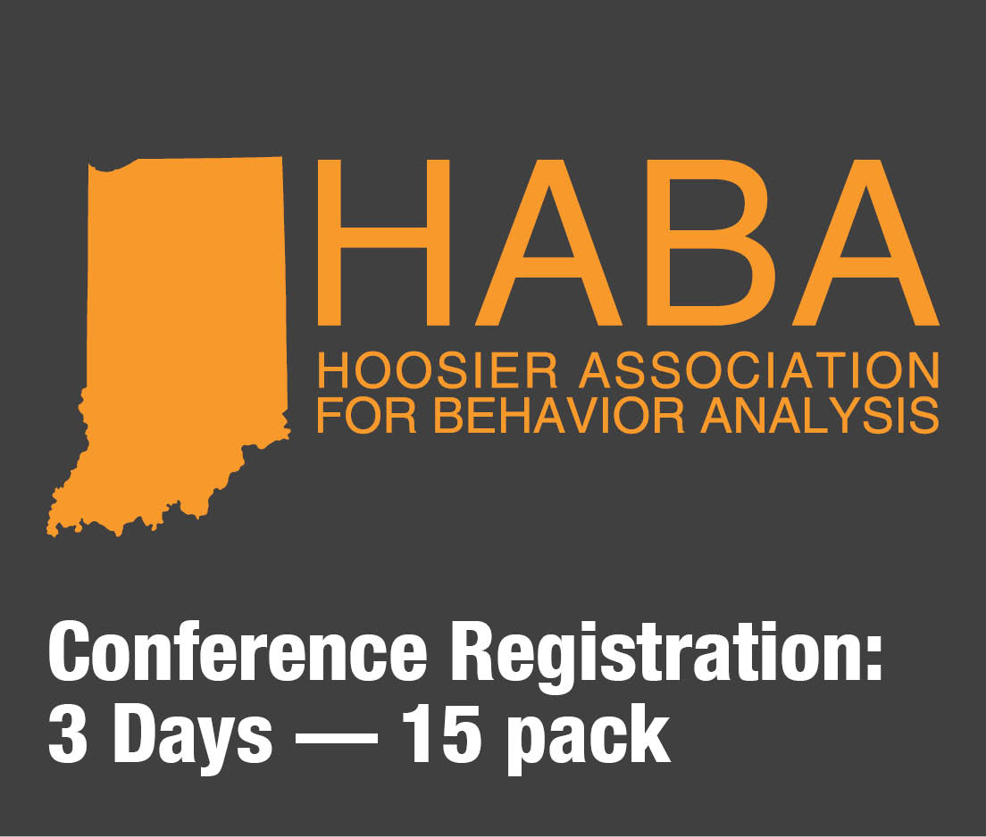 a square graphic representing HABA 2019 conference for 3 days 15 pack