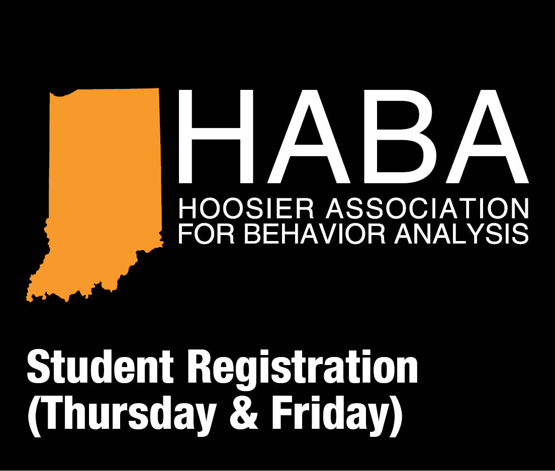 a square graphic representing HABA 2019 student registration (Thursday and Friday)