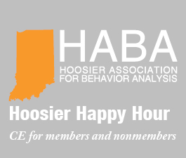 a square graphic representing CE for Happy Hour - Members and NonMembers - $13