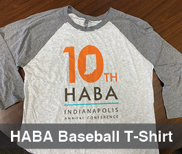 a square graphic representing HABA Baseball T-shirt - LARGE