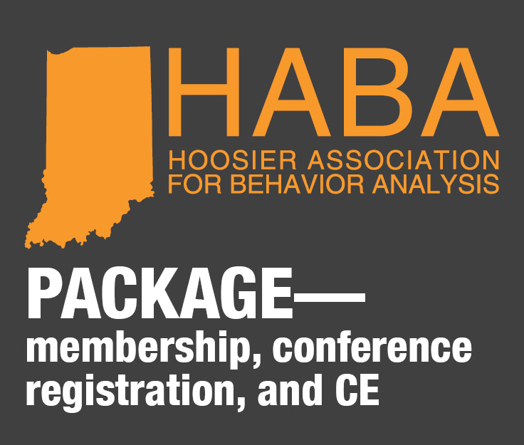 a square graphic representing HABA 2021 Conference Registration (Includes 2021 Membership and CEUs)